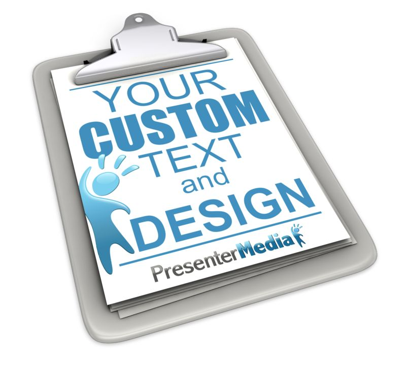 This Presentation Clipart shows a preview of Custom Clipboard