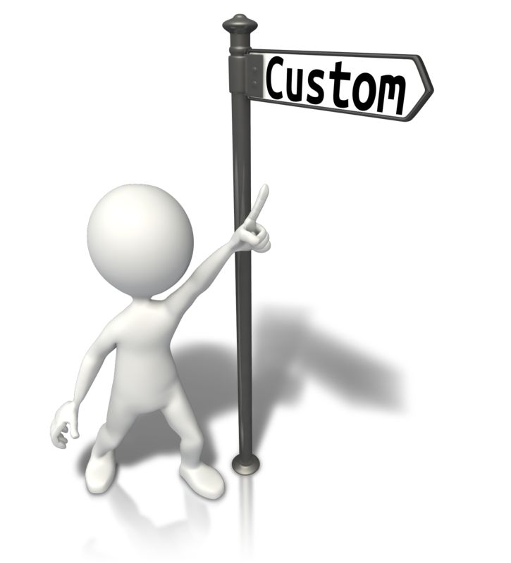 This Presentation Clipart shows a preview of Street Sign Stick Figure Custom