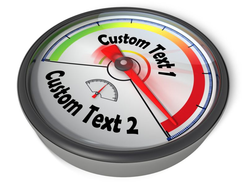 This Presentation Clipart shows a preview of Gauge Custom Red