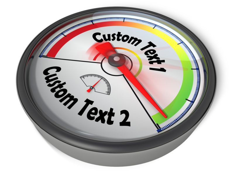 This Presentation Clipart shows a preview of Gauge Custom Green