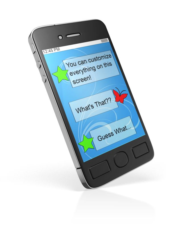 This Presentation Clipart shows a preview of Smart Phone Custom Block