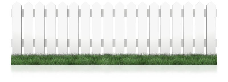 Clipart - White Picket Fence Grass