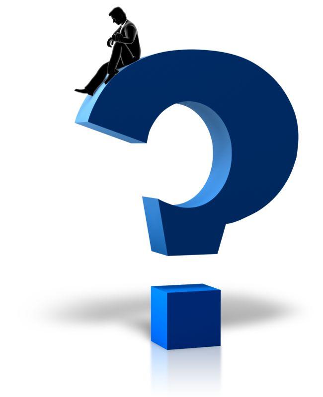 Clipart - Figure Pondering Question