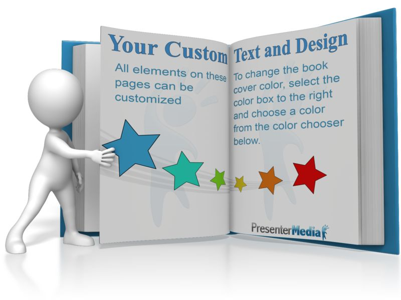This Presentation Clipart shows a preview of Figure Turning A Custom Page