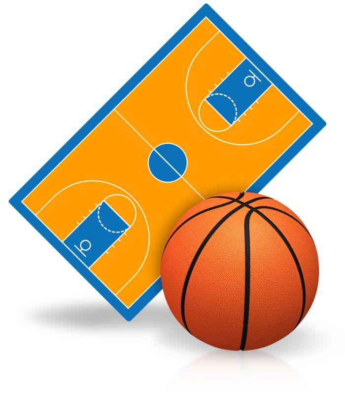 Clipart - Basketball Court