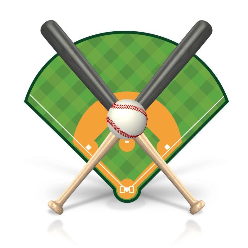 Clipart - Baseball Field Icon