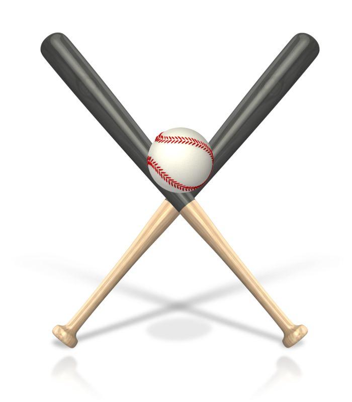 Clipart - Baseball Bat Ball