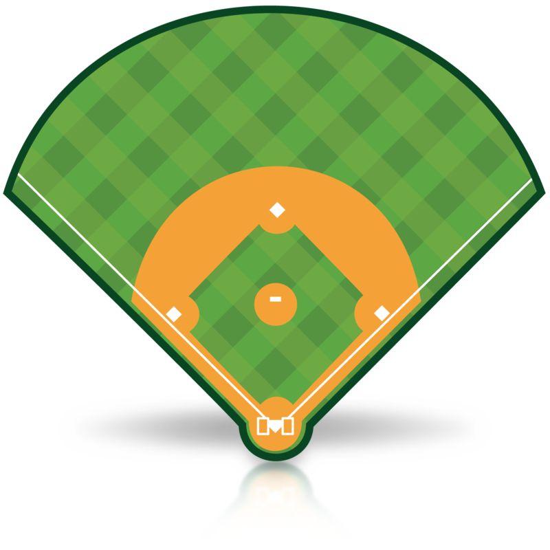 Clipart - Baseball Field