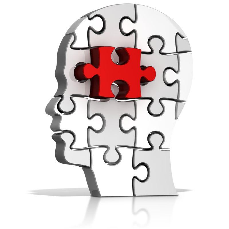 Clipart - Head Puzzle Piece Standout