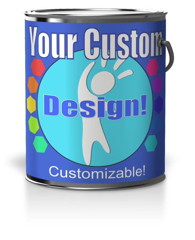 This Presentation Clipart shows a preview of Custom Paint Can