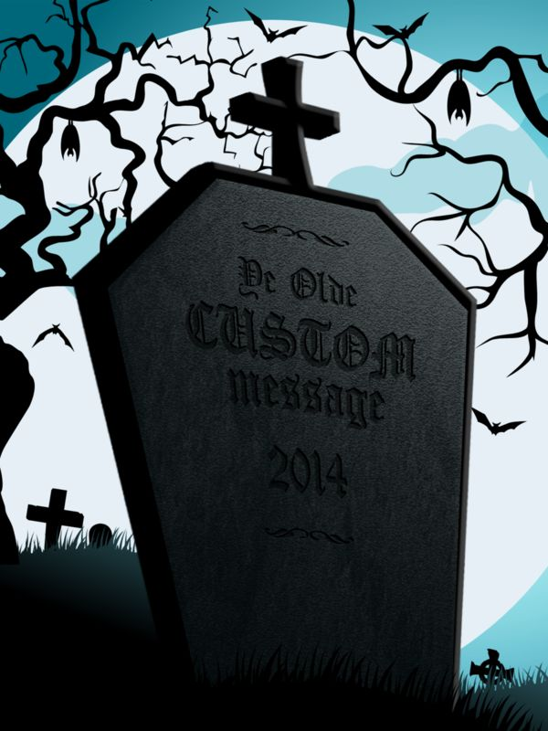 This Presentation Clipart shows a preview of Moonlight Tombstone