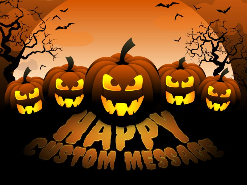 This Presentation Clipart shows a preview of Scary Pumpkins