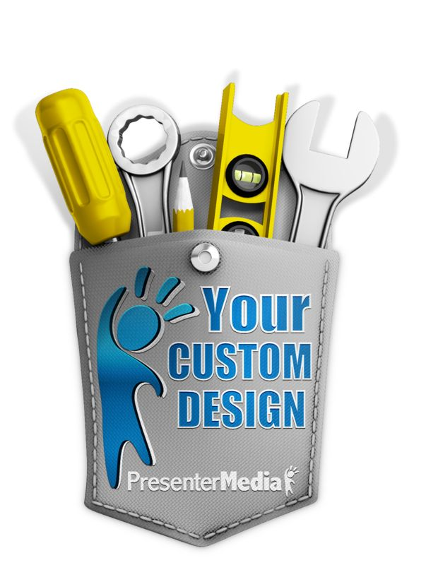 This Presentation Clipart shows a preview of Tools In Custom Pocket
