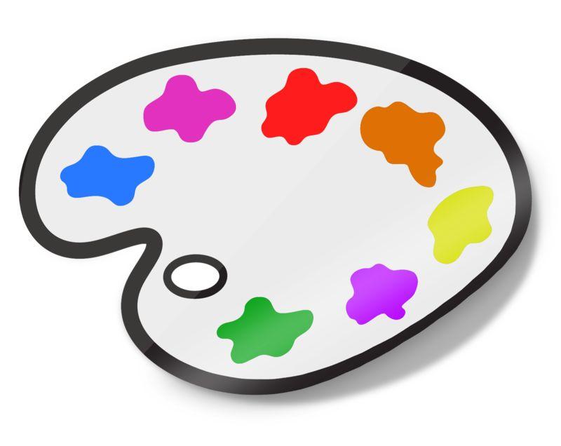 Clipart - Painters Palette Icon Sticker