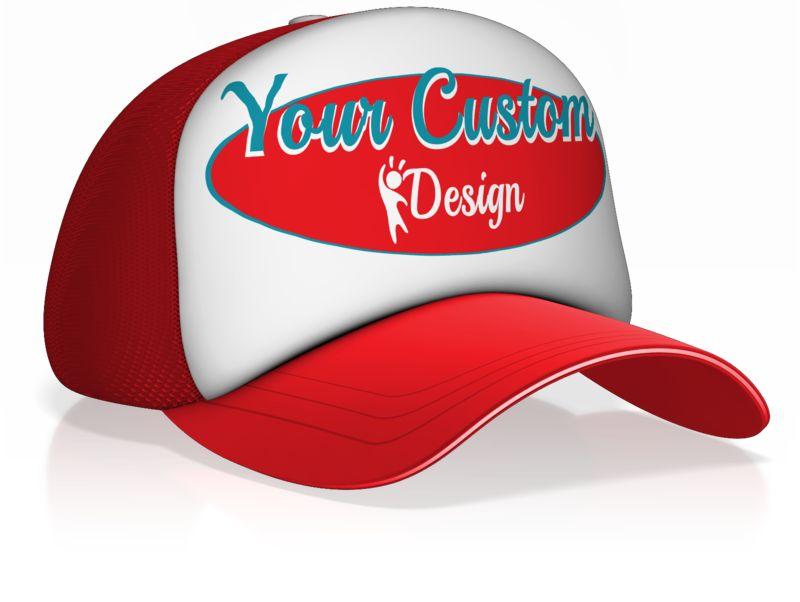This Presentation Clipart shows a preview of Custom Design Ball Cap