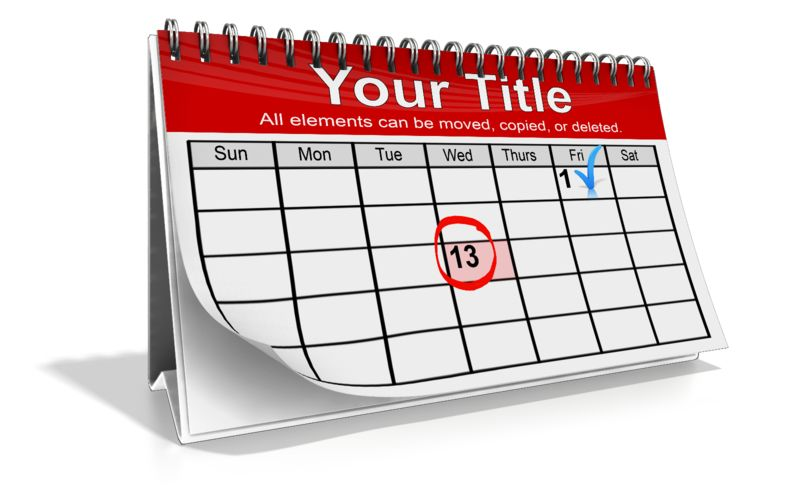 This Presentation Clipart shows a preview of Custom Calendar Month