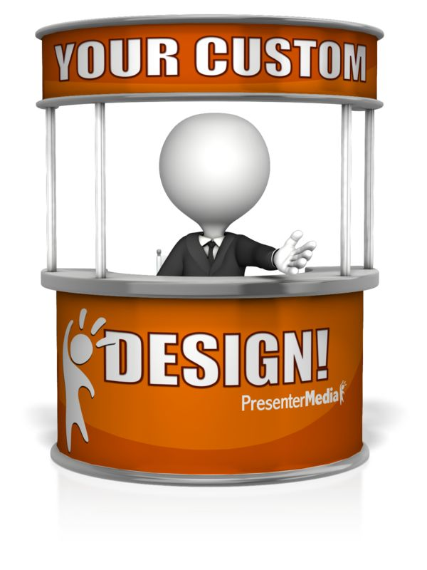 This Presentation Clipart shows a preview of Custom Help Desk