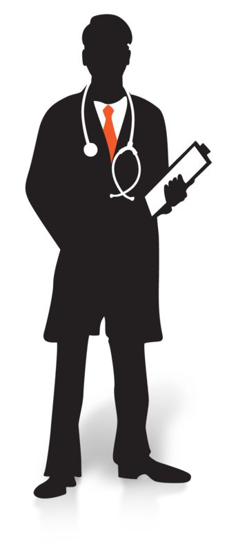 Clipart - Doctor Clipboard Silhouette