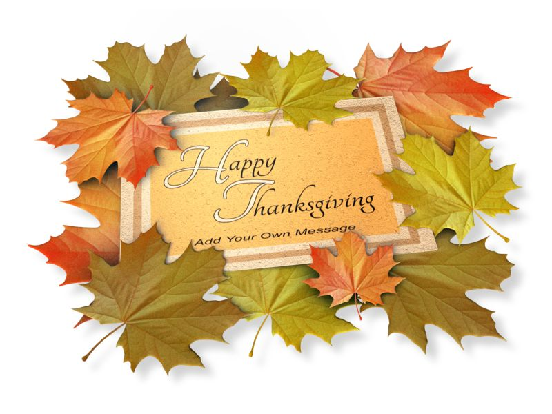 This Presentation Clipart shows a preview of Autumn Leaf Card