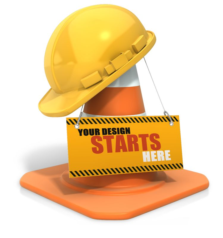 This Presentation Clipart shows a preview of Construction Helmet Custom Sign