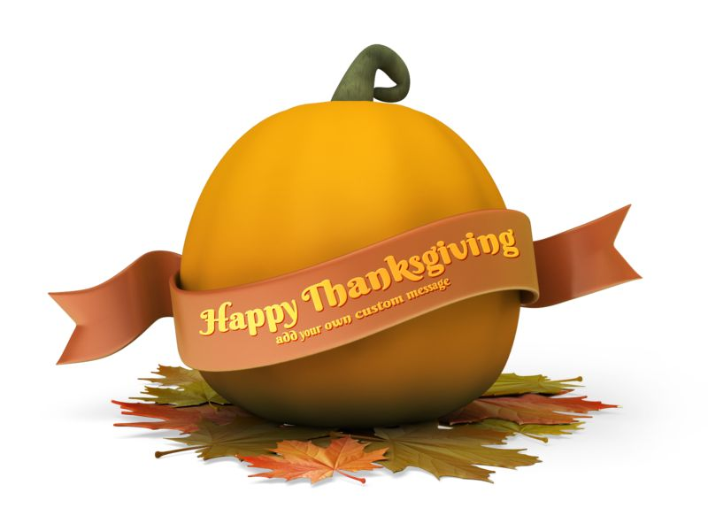 This Presentation Clipart shows a preview of Pumpkin Banner Custom