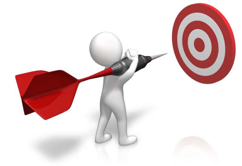 Clipart - Figure Sizing Up Target