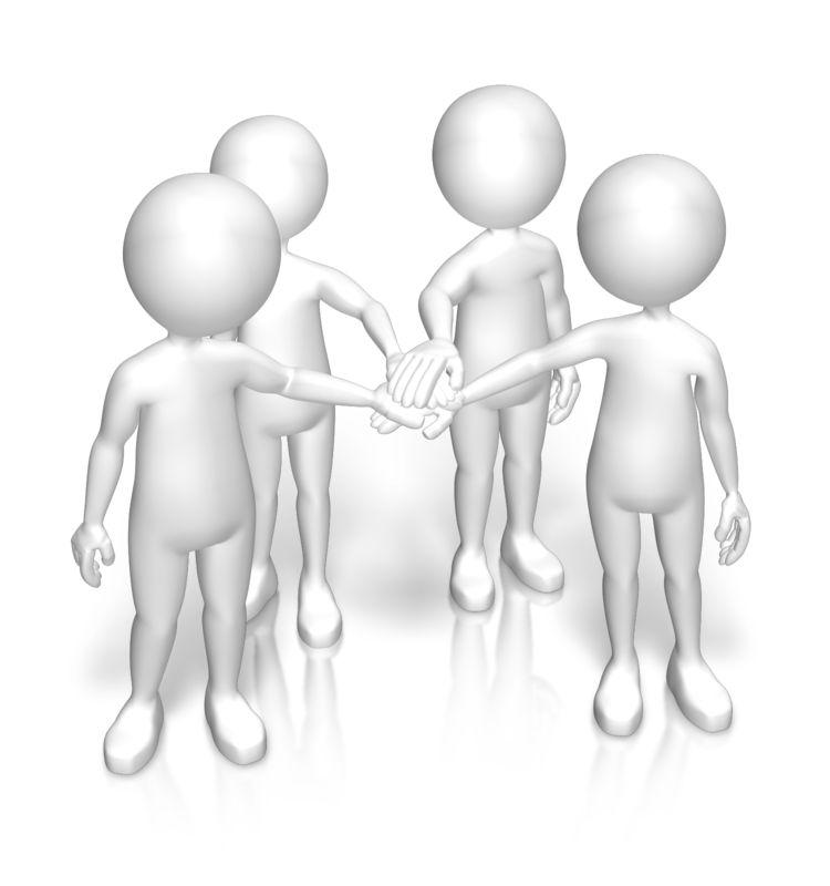 Clipart - Figures Huddle Team