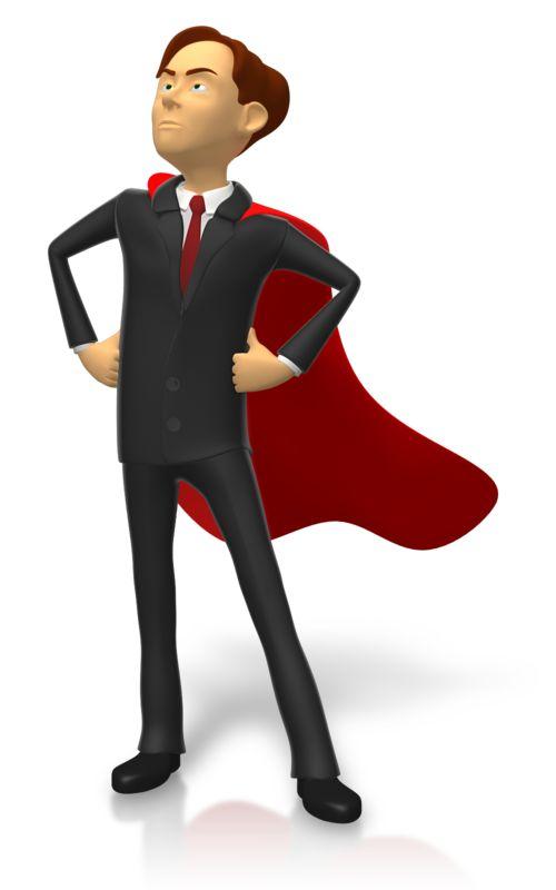 Clipart - Businessman Superhero Pose