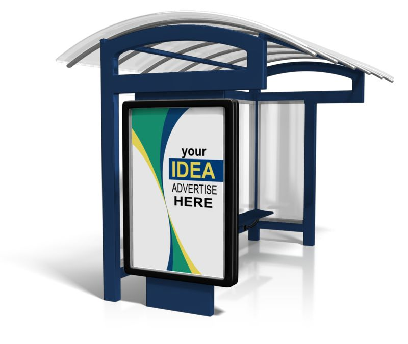 This Presentation Clipart shows a preview of Bus Stop Billboard Sign Custom