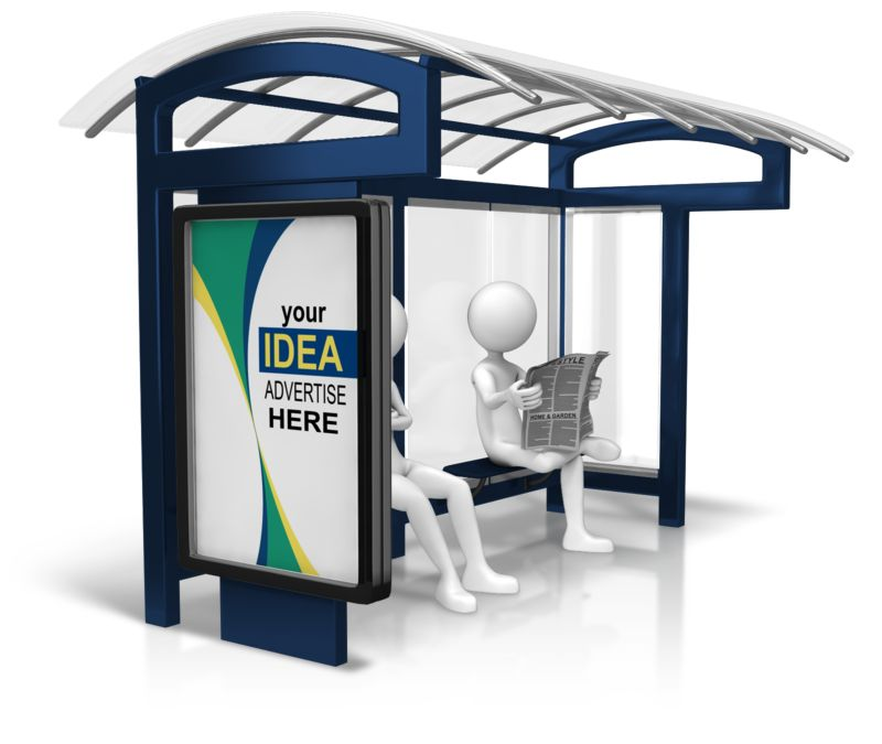 This Presentation Clipart shows a preview of Custom Bus Stop Display