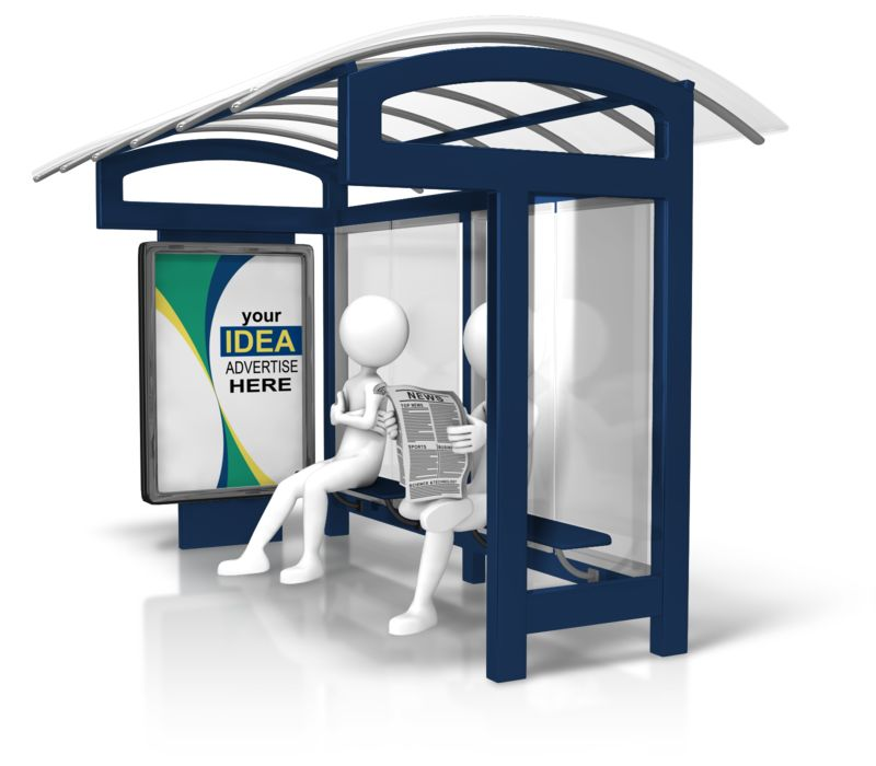 This Presentation Clipart shows a preview of Bus Stop Custom Display