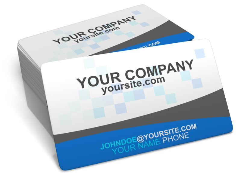 This clip art image shows a stack of business cards. You can add your own custom text or design to the stack of business cards.