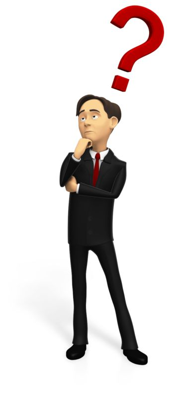 This Presentation Clipart shows a preview of Business Man Pondering Question