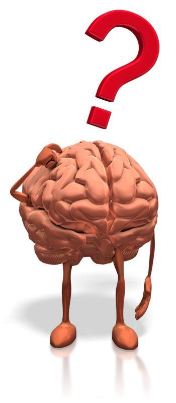 Clipart - Brain Posing Question