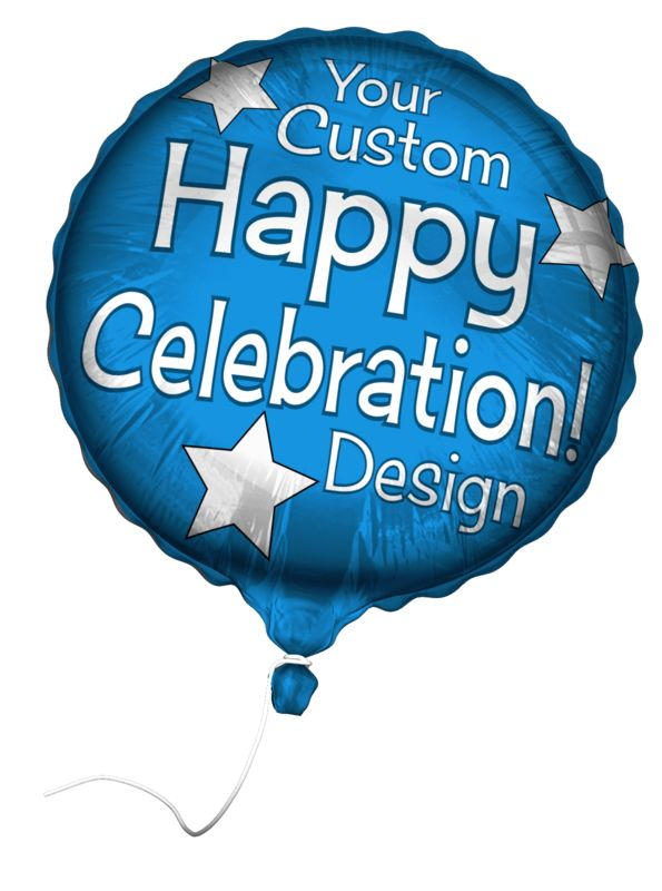 This clip art image shows a floating custom Mylar balloon.  You can use the Customize Your Message tab to change the text and image design of this balloon.