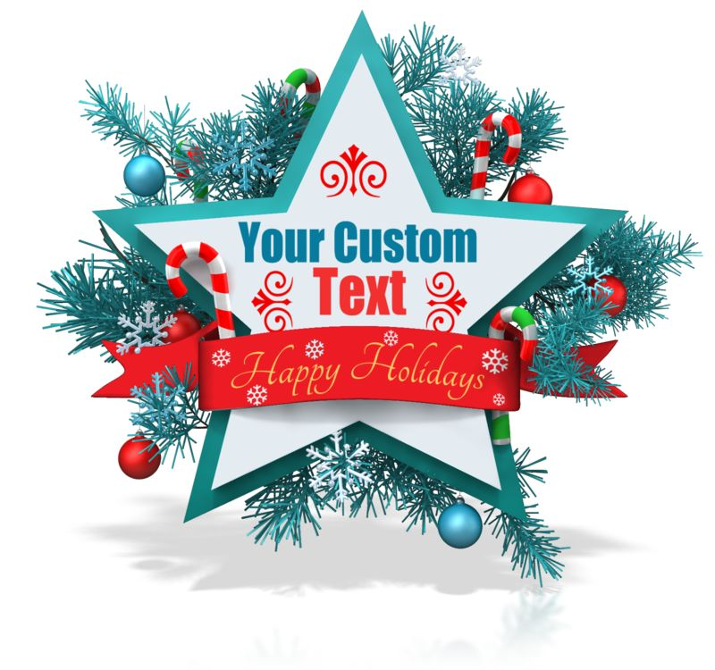 This Presentation Clipart shows a preview of Custom Christmas Star Banner