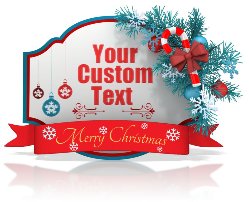 This Presentation Clipart shows a preview of Custom Christmas Shape Banner