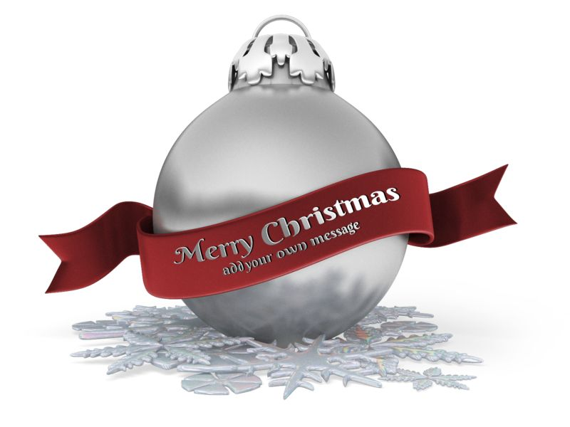 This Presentation Clipart shows a preview of Christmas Ornament Banner