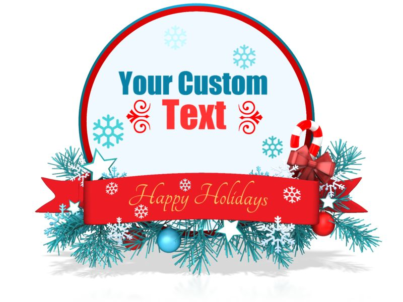 This Presentation Clipart shows a preview of Custom Festive Christmas Circle Banner