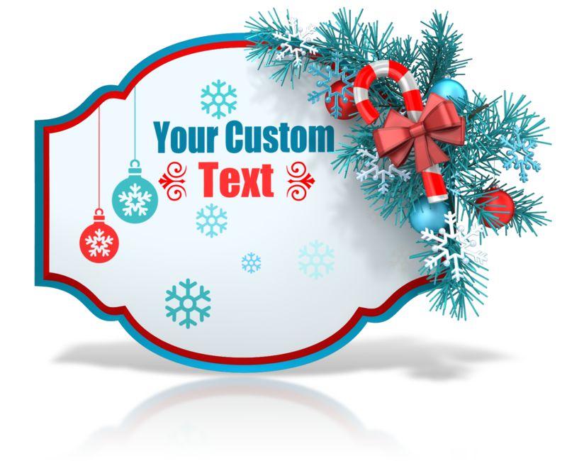 This Presentation Clipart shows a preview of Custom Festive Christmas Shape