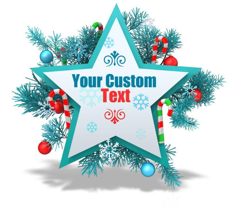 This Presentation Clipart shows a preview of Custom Festive Christmas Star