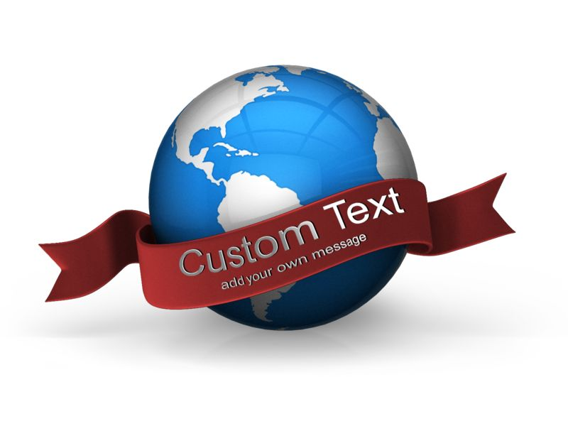 This Presentation Clipart shows a preview of Blue Earth Custom Banner