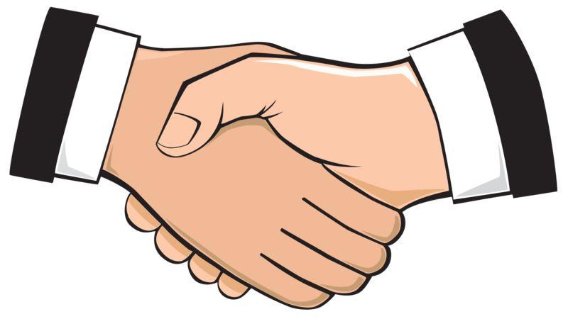 Clipart - Handshake Illustration