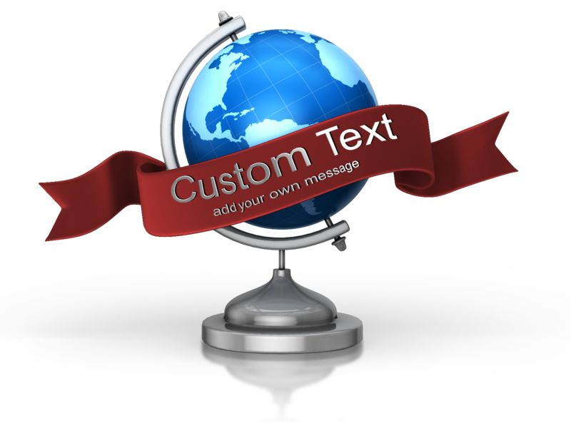 This Presentation Clipart shows a preview of Globe Custom Banner