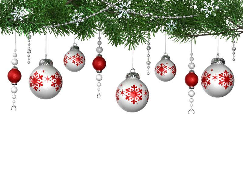 Clipart - Hanging Ornaments From Pine
