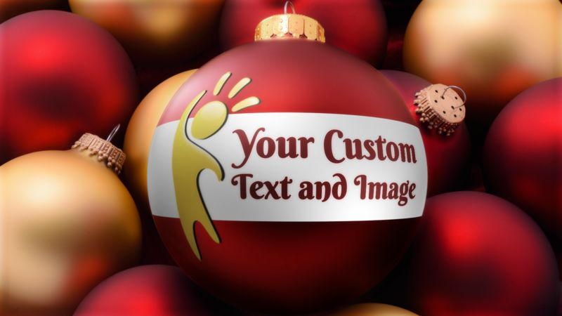 This Presentation Clipart shows a preview of Red Gold Bulbs Custom