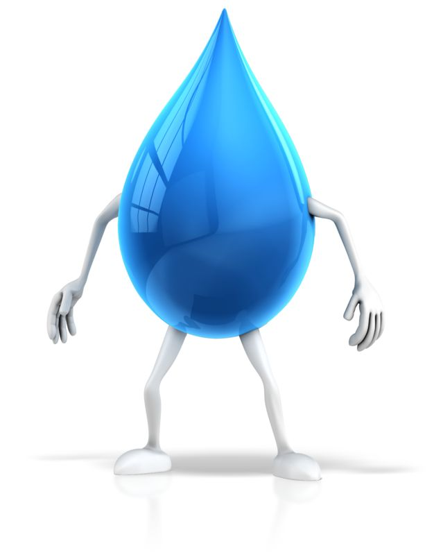 Clipart - Water Drop Character