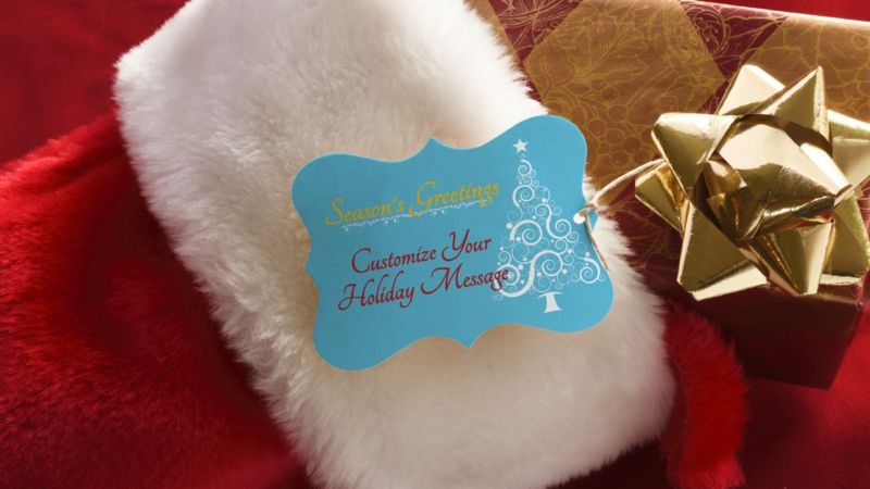 This Presentation Clipart shows a preview of Stocking Present Custom