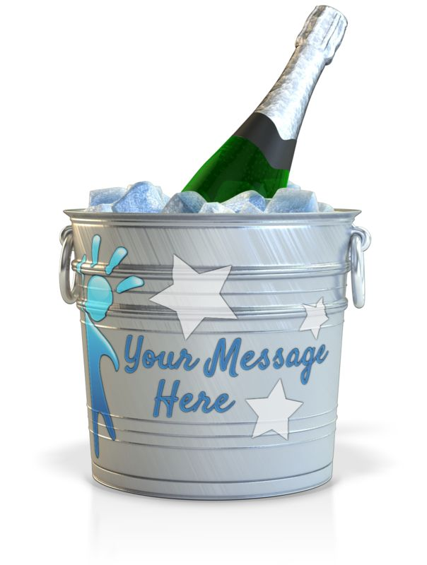This Presentation Clipart shows a preview of Champagne In A Custom Bucket