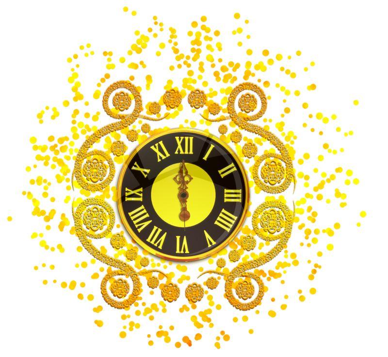Clipart - New Years Elegant Clock